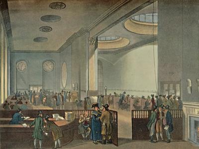 'Lloyd's Subscription Rooms As Seen By Rowlandson in 1800', 1928
