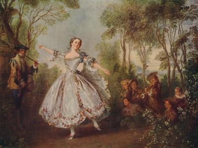 'Mlle. Camargo Dancing', 1730, (c1915)