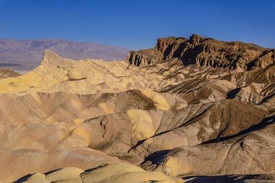 The USA, California, Death Valley National Park, Zabriskie Point, badlands against Panamint Range