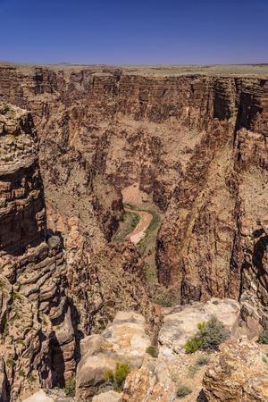 The USA, Arizona, Navajo nation, Cameron, Little Colorado River Gorge