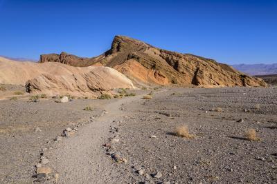 The USA, California, Death Valley National Park, Zabriskie Point, badlands footpath