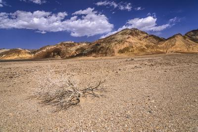 The USA, California, Death Valley National Park, scenery with Amargosa Range in the Badwater Road
