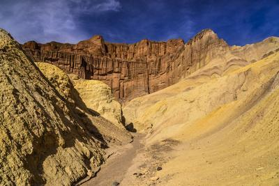 The USA, California, Death Valley National Park, Golden canyon with Red Cathedral
