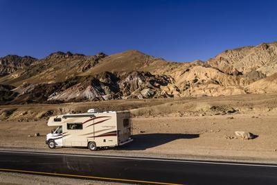 The USA, California, Death Valley National Park, Artists drive with Artists palette