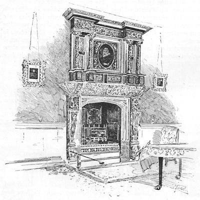 'Old Charterhouse: Mantelpiece in the Master's Lodge', 1886