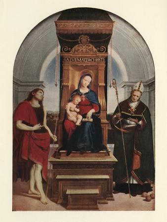 'The Ansidei Madonna', 1505, (c1912)
