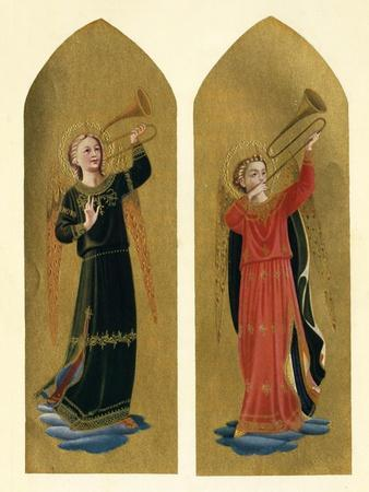 'Two Angels with Trumpets', 15th century, (c1909)