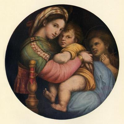 'The Madonna Della Sedia', c1514, (c1912)