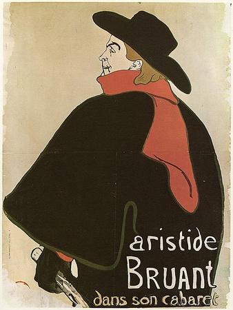 'Aristide Bruant in His Cabaret', (Poster), 1893