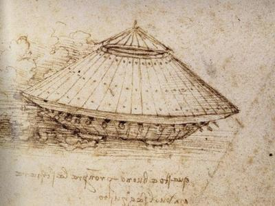 Drawing of an armoured tank, ca 1485