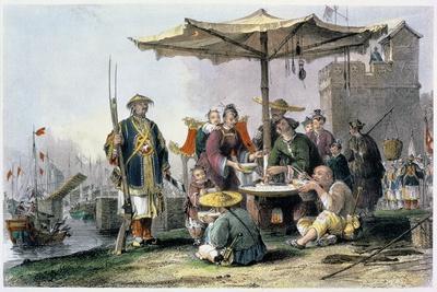 'Rice Sellers at the Military Station of Tong-Chang-Too', China, 1843