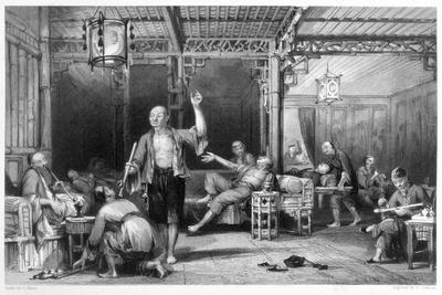 Chinese opium smokers, 1843