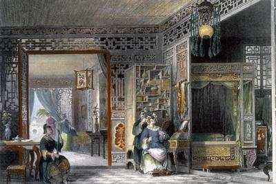 Boudoir and bedchamber of a lady of rank, China, 1843
