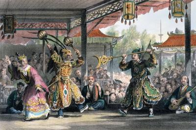 'Scene from the Spectacle of 'The Sun and Moon'', China, 1843