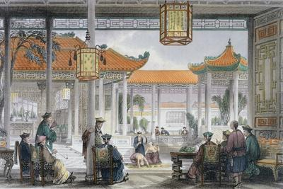 'Jugglers Exhibiting in the Court of a Mandarin's Palace', China, 1843