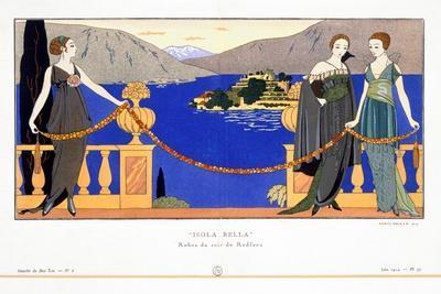'Isola Bella', evening dresses designed by Redfern, 1914