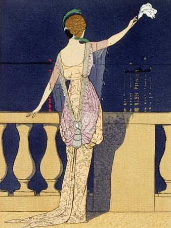 'Farewell at Night', design for an evening dress by Jeanne Paquin, early 20th century