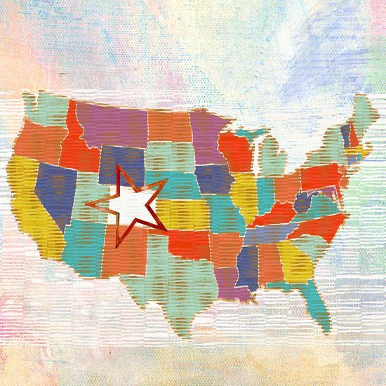 US lower 48, states, us map