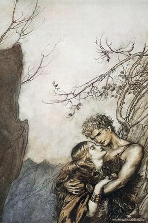 Brunnhilde throws herself into Siegfried's arms', 1924