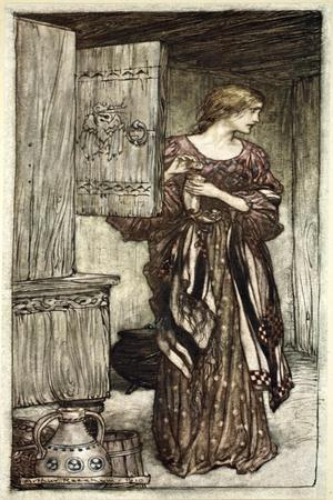 Sieglinde prepares Hunding's draught for the night', 1910