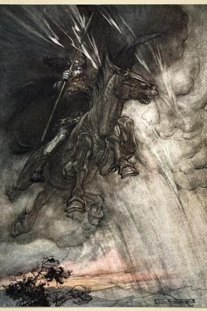 Raging, Wotan Rides to the Rock! Like a Storm-wind he comes!', 1910