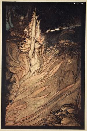 Appear, flickering fire, Encircle the rock with thy flame! Loge! Loge! Appear!', 1910