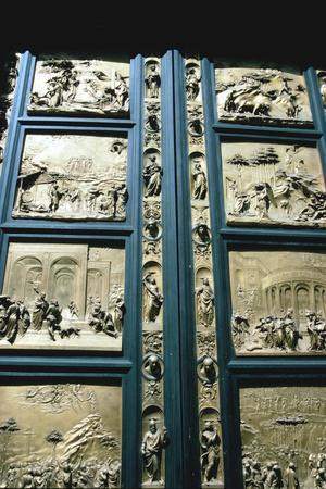 """The """"Gates of Paradise,"""" Baptistry East doors, Florence, Italy, 1425-1452"""