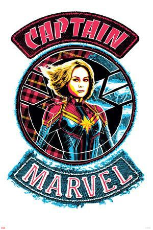 Captain Marvel - Denim Patch