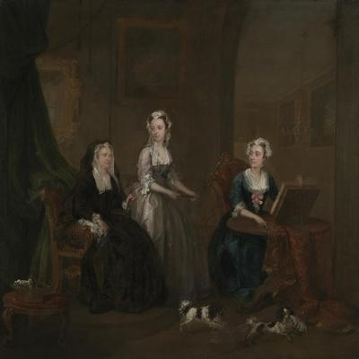Three Ladies in a Grand Interior ('The Broken Fan'), possibly Catherine Darnley