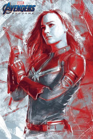 Avengers Endgame Captain Marvel Painterly Posters At Allposters Com
