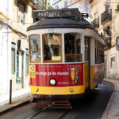 Welcome to Portugal Square Collection - Prazeres Tram 28 Lisbon