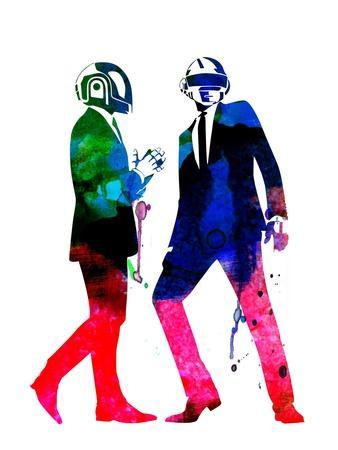 Daft Punk Watercolor