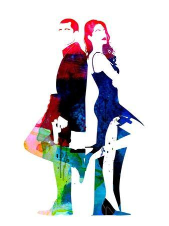 Mr. and Mrs. Smith Watercolor