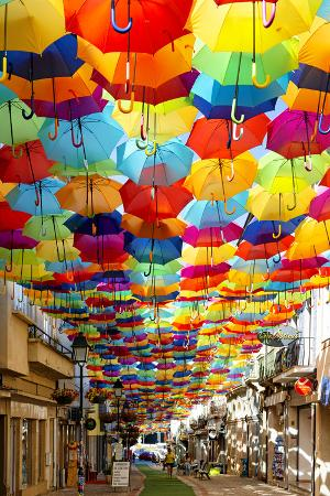 Welcome to Portugal Collection - Colourful Umbrellas V