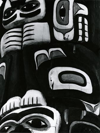 Totem Pole Detail, Alaska, c. 1970