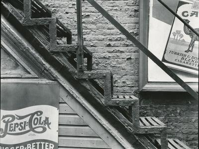 Staircase and Advertisements, New York, c. 1945