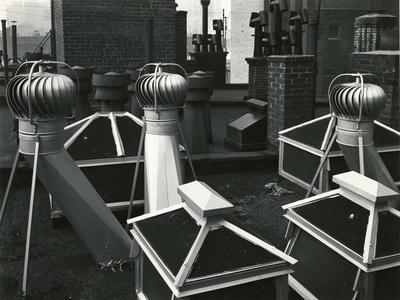 Air Vents On Rooftop, New York, 1946