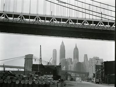 Bridge and Skyline, New York, c. 1945