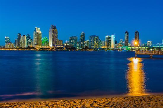 Downtown San Diego Skyline From Coronado Island California Usa Photographic Print Mark A Johnson Allposters Com