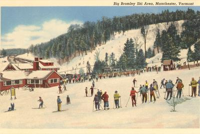 Skiing at Big Bromley, Manchester, Vermont