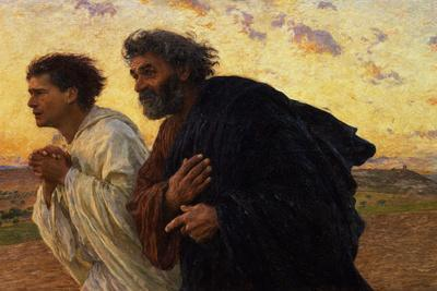 The Disciples Peter and John Running to Sepulchre on the Morning of the Resurrection, circa 1898
