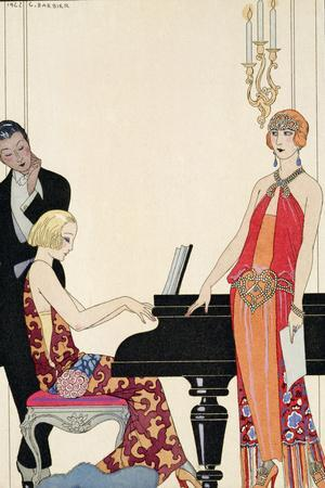 Incantation, Illustration for 'Gazette Du Bon Ton', 1922 (Pochoir Print)