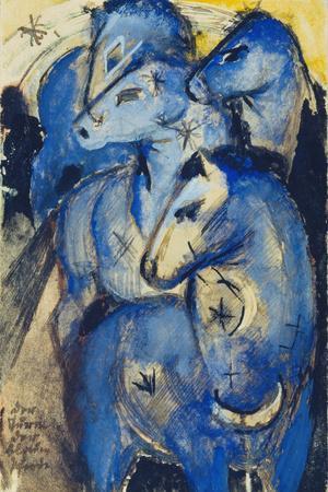 Tower of the Blue Horses, 1913 (Postcard to Else Lasker-Schueler)