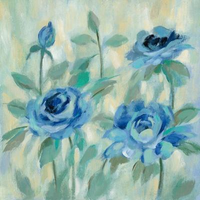 Brushy Blue Flowers II