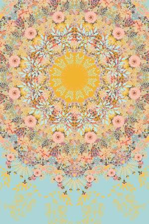 Sunshine Floral Mandala