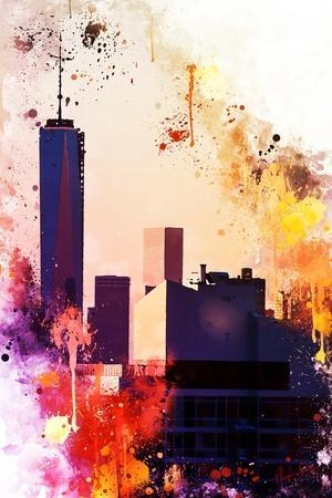NYC Watercolor Collection - One World Trade center