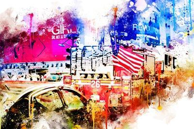 NYC Watercolor Collection - Fire Truck