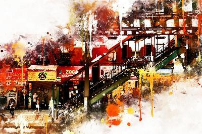 NYC Watercolor Collection - Subway Brooklyn