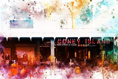 NYC Watercolor Collection - Coney Island Station