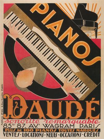 Pianos Daude Poster
